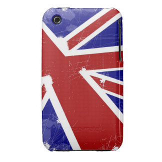 British flag with scratches iPhone 3 Case-Mate case