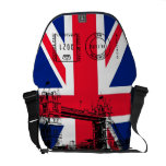 British Flag with Tower Bridge and Stamp Messenger Courier Bags