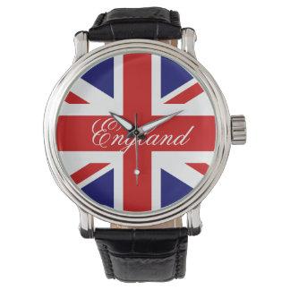 British flag wrist watch
