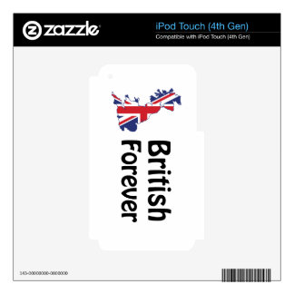 British Forever iPod Touch 4G Skins