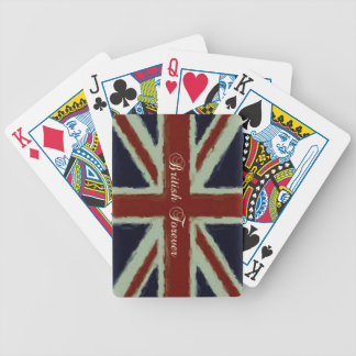 British Forever-Union Jack/Painterly Version Bicycle Playing Cards