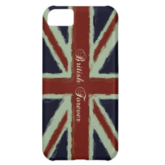 British Forever-Union Jack/Painterly Version Cover For iPhone 5C