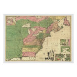 British & French America Map - 1775 Poster