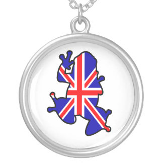 British Frog Silver Plated Necklace