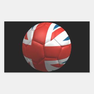 British Futbol Rectangular Sticker