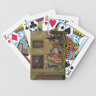 British gentlemen at Sir Horace Mann's home in Flo Bicycle Playing Cards