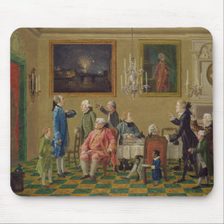 British gentlemen at Sir Horace Mann's home in Flo Mouse Pad