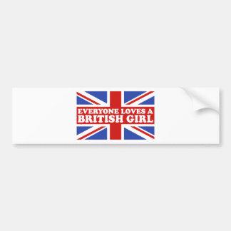 British Girl Bumper Sticker