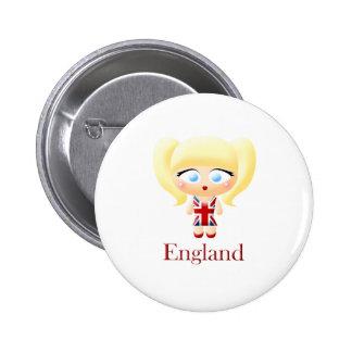 British Girl Pin
