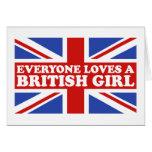 British Girl Greeting Cards