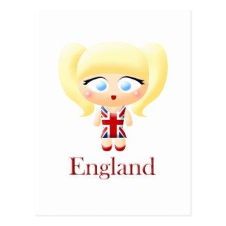 British Girl Postcard