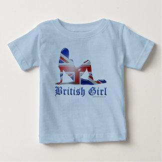 British Girl Silhouette Flag Baby T-Shirt