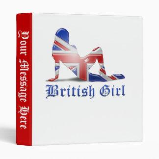 British Girl Silhouette Flag Binder