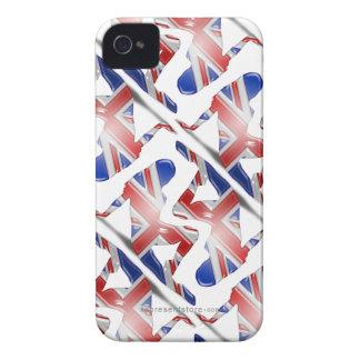 British Girl Silhouette Flag Case-Mate iPhone 4 Case