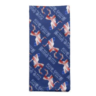 British Girl Silhouette Flag Cloth Napkin