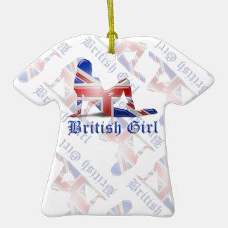British Girl Silhouette Flag Ornaments
