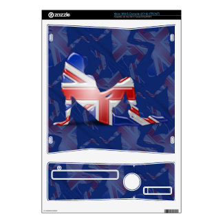 British Girl Silhouette Flag Skins For Xbox 360 S