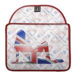 British Girl Silhouette Flag Sleeves For MacBooks