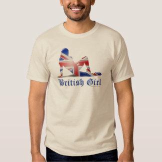 British Girl Silhouette Flag T-shirt