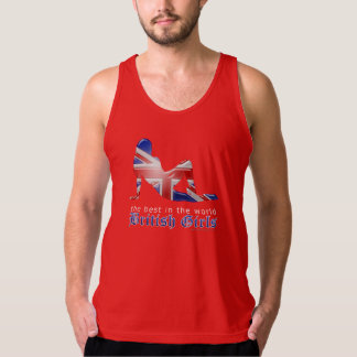 British Girl Silhouette Flag Tank Top