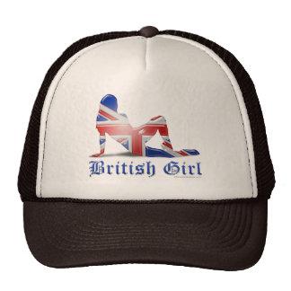 British Girl Silhouette Flag Trucker Hat