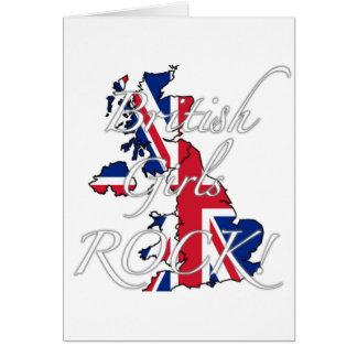 British Girls Rock Greeting Card