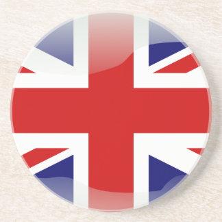 British glossy flag sandstone coaster