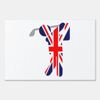 British Golfer - Golf Symbol Lawn Sign