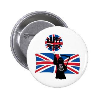 British Grim Reaper Pinback Button