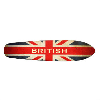 British Grunge Union Jack Retro Skateboard Deck