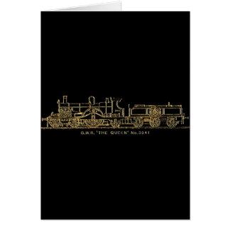 "British GWR Steam Train,""The Queen"",3041, Black Card"