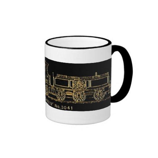 "British GWR Steam Train,""The Queen"",3041, Black Mug"