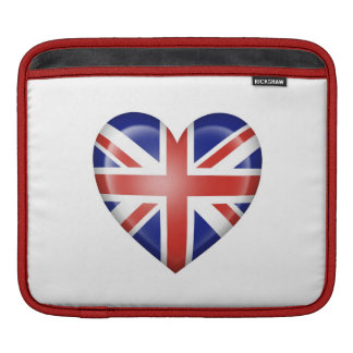 British Heart Flag on White Sleeve For iPads