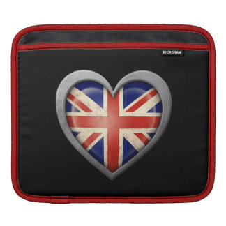 British Heart Flag with Metal Effect Sleeve For iPads