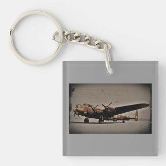 British Heavy Bomber Double-Sided Square Acrylic Keychain