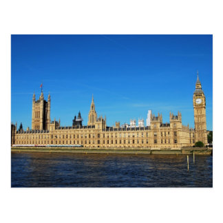 British Houses of Parliament and Big Ben Postcard