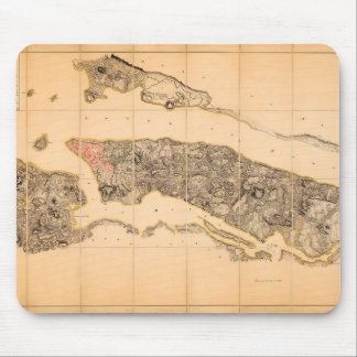 British HQ Map of New York in 1782 Mouse Pad