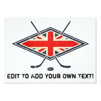 British Ice Hockey Flag 5x7 Paper Invitation Card