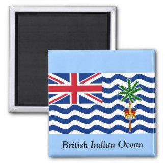 British Indian Ocean 2 Inch Square Magnet