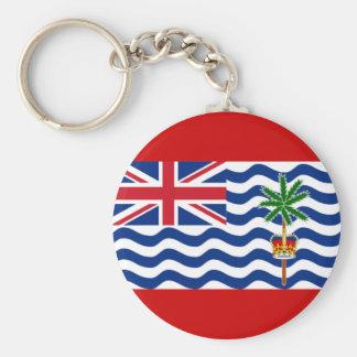 British Indian Ocean Basic Round Button Keychain