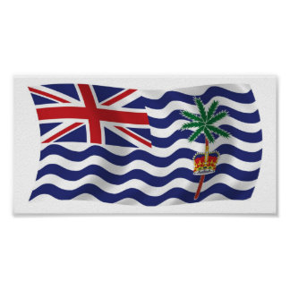British Indian Ocean Flag Poster Print