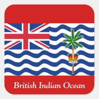 British Indian Ocean Square Stickers