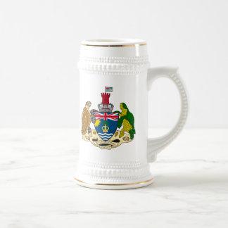 British Indian Ocean Territories Coat Of Arms Beer Stein