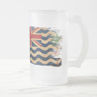British Indian Ocean Territories Flag Frosted Glass Beer Mug