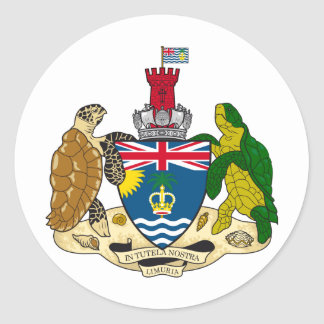 British Indian Ocean Territory Coat of arms IO Classic Round Sticker