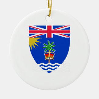 British Indian Ocean Territory Coat of Arms Double-Sided Ceramic Round Christmas Ornament