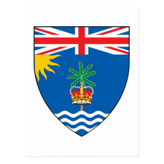 British Indian Ocean Territory Coat of Arms Postcard