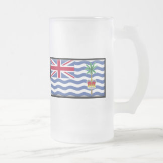British Indian Ocean Territory Flag Frosted Glass Beer Mug