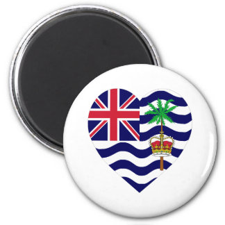 British Indian Ocean Territory Flag Heart 2 Inch Round Magnet