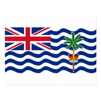 British Indian Ocean Territory Flag IO Postcard